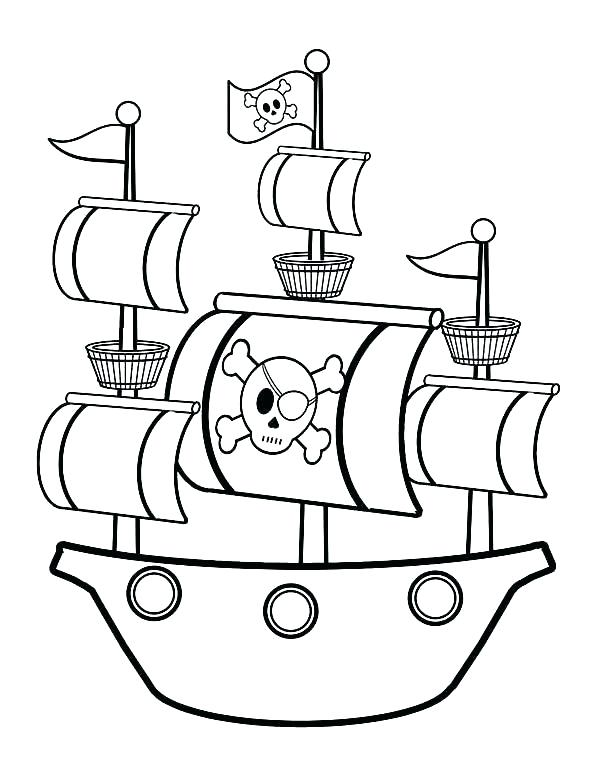 600x777 Pirate Ship Coloring Pages Simple Pirate Ship Coloring Pages