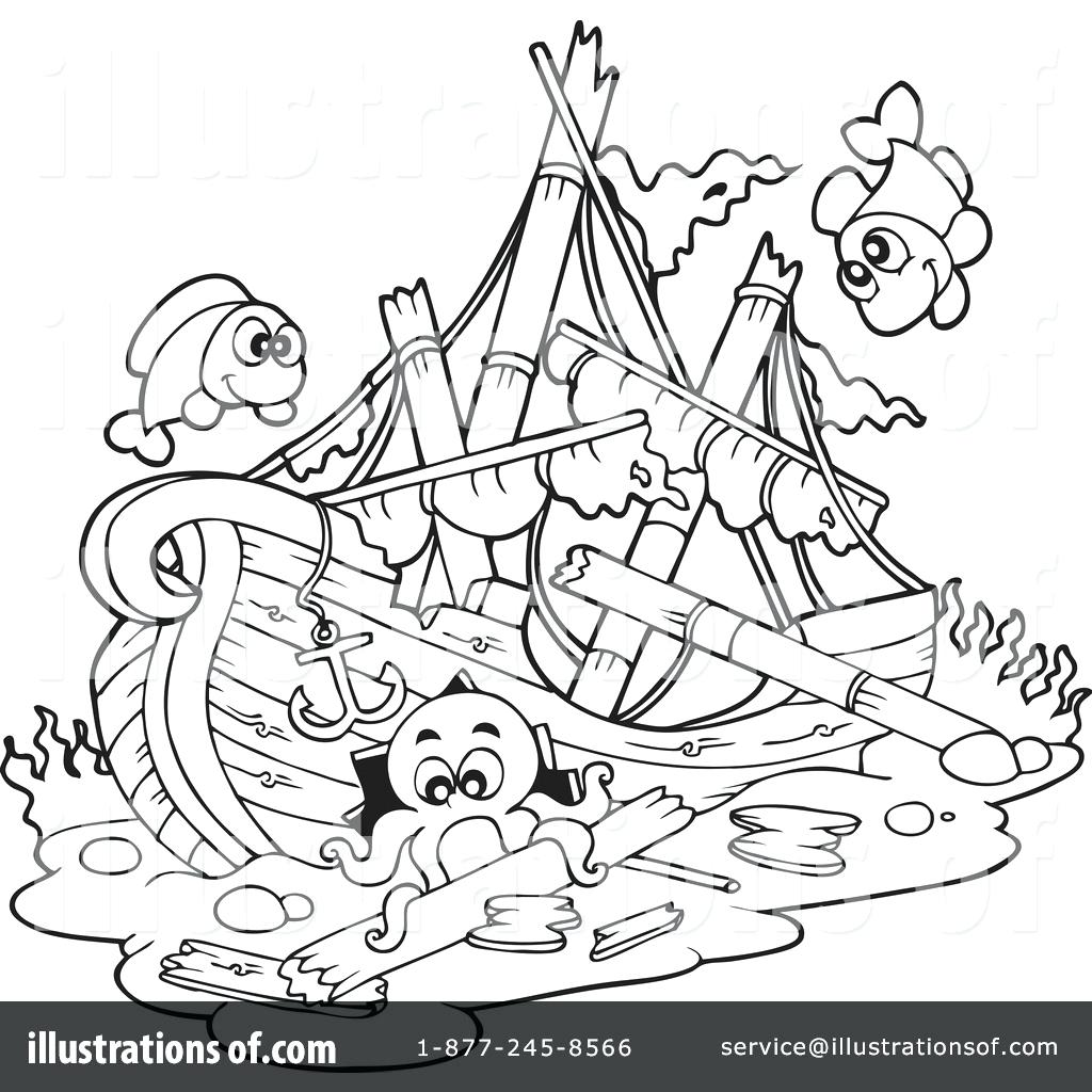 1024x1024 Just Arrived Sunken Pirate Ship Coloring Page Drawing