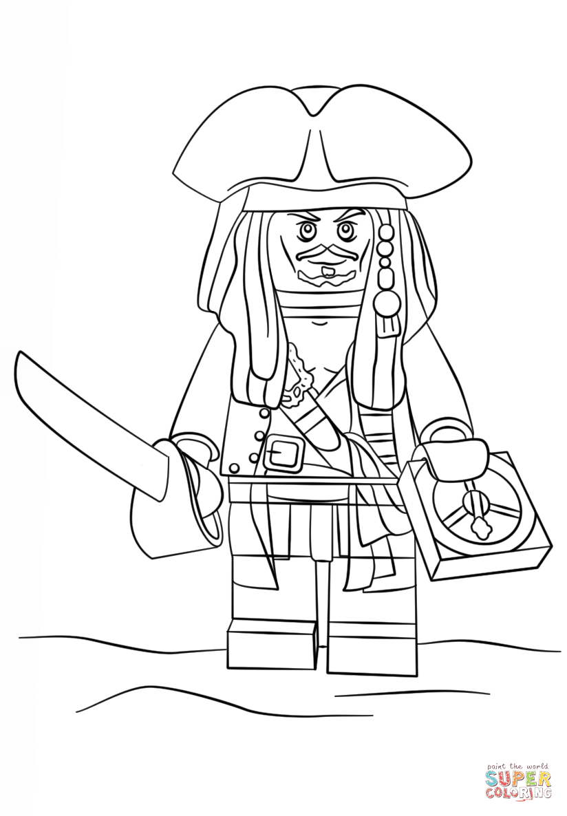 824x1186 Lego Pirate Ship Coloring Pages In Snazzy Page Jack Sparrow Free