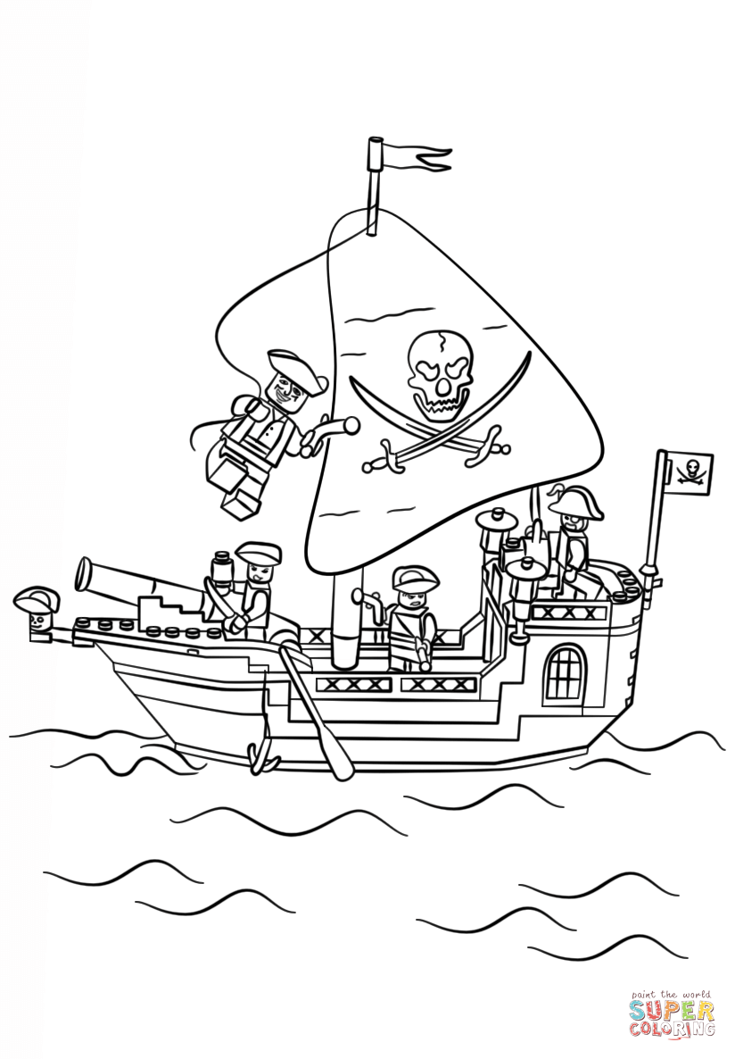 824x1186 Lego Pirate Ship Coloring Page Free Printable Coloring Pages Lego