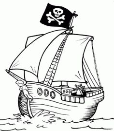 236x269 Pirate Art Activities For Preschoolers Pirate Ship Coloring Page