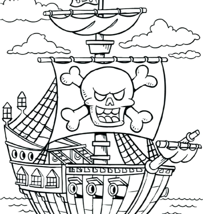 853x900 Pirate Ship Coloring Pages Download For Kids