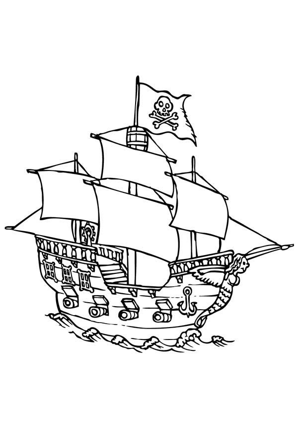 600x849 Luxury Stock Of Pirate Ship Coloring Pages Free Coloring Pages