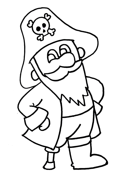 520x754 Pirate Coloring Picture Pirate Colouring Coloring Kids Free