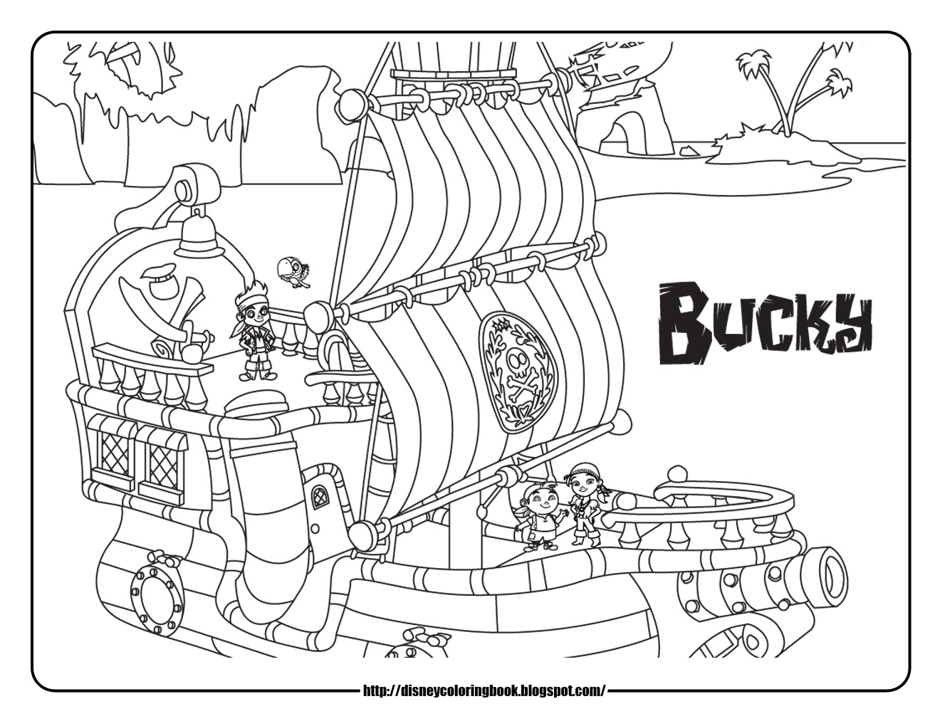 1320x1020 Bucky The Pirate Ship Coloring Pages To Humorous Pict Drawn