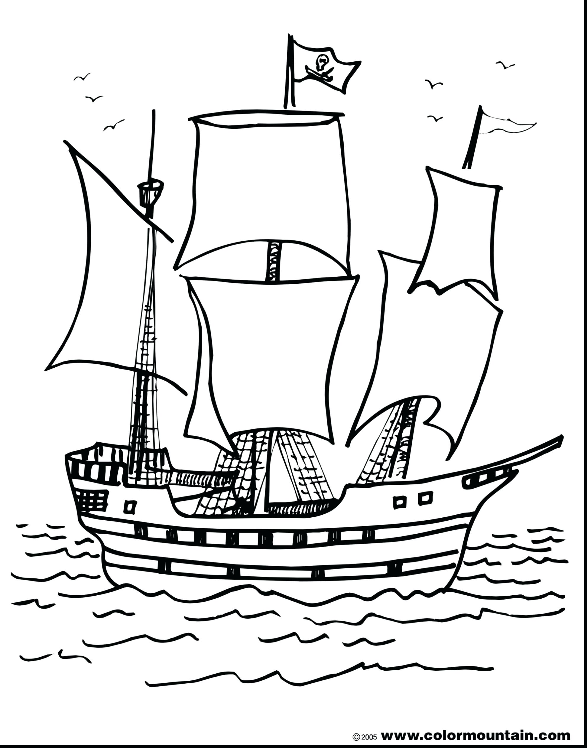 1980x2523 High Seas Pirate Ship Coloring Pages Free Picturesque Color Page