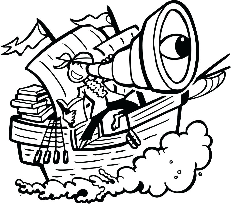940x833 Pirate Coloring Pages Free Pirate Ship Outline Free Jake