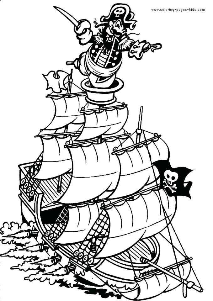 679x960 Pirate Ship Coloring Page Collection Printable Pirate Coloring