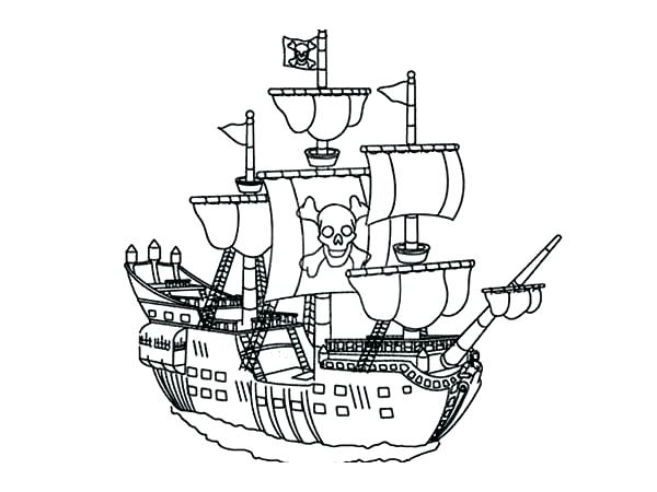 600x450 Pirate Ship Coloring Page Big Pirate Ship Coloring Pages Page