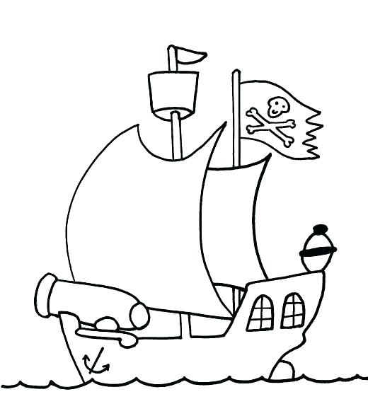 520x588 Pirate Ship Coloring Pages Pirate Coloring Pages Marvelous Pirate
