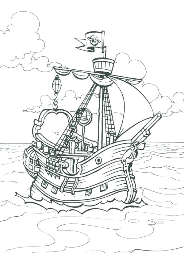 600x821 Pirate Ship Coloring Pages Pirates Of The Pirate Ship Coloring
