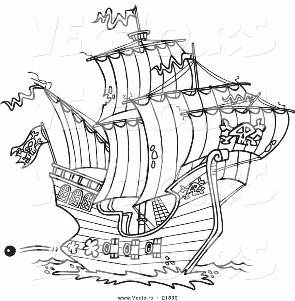 1004x1024 Lovely Pirate Ship Coloring Pages For Kids Free Printable Adult