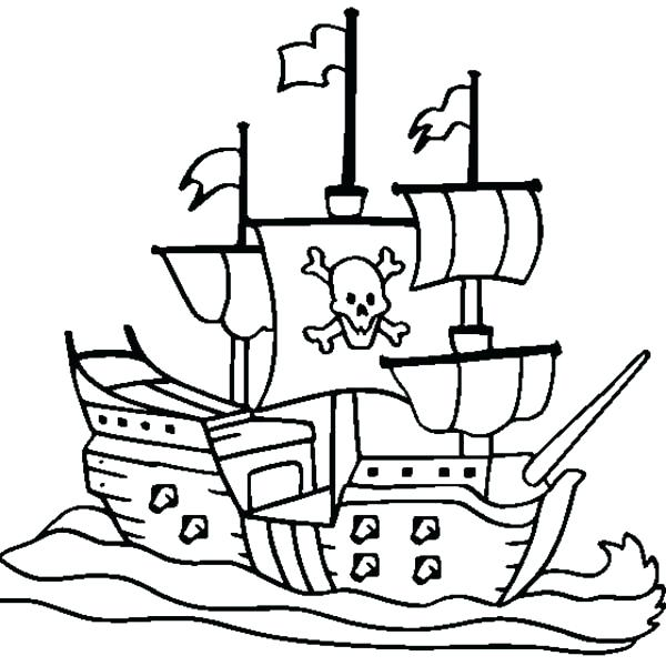 600x600 Pirate Ship Coloring Page Icontent