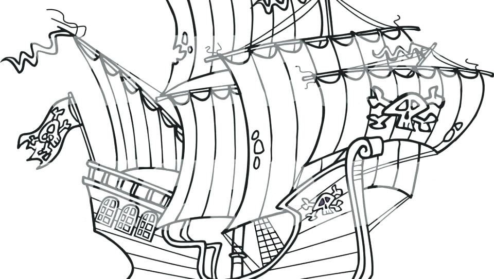 960x544 Cruise Ship Coloring Page Pirate Ship Coloring Pages Excellent