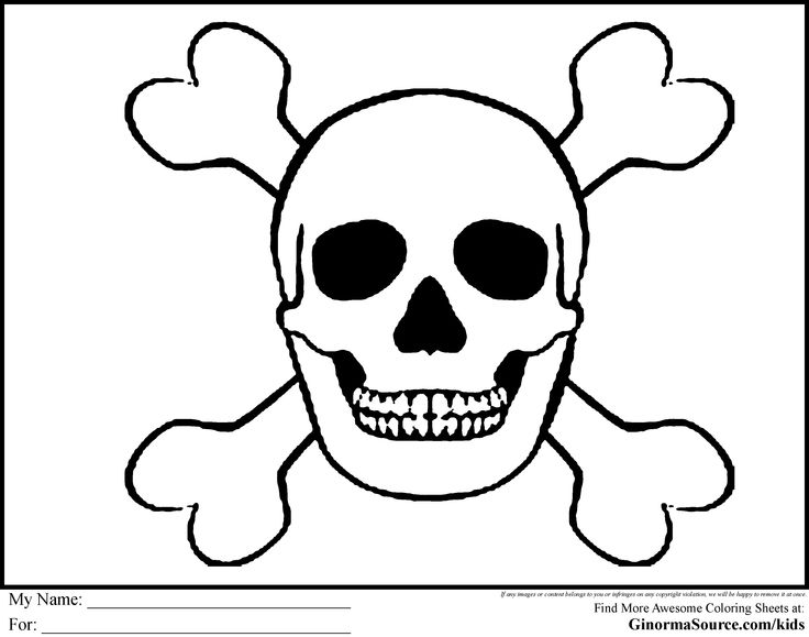 Pirate Skull Coloring Pages