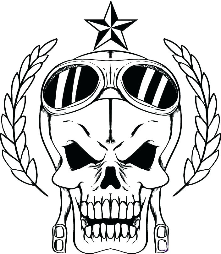 Pirate Skull Coloring Pages at GetDrawings.com   Free for ...