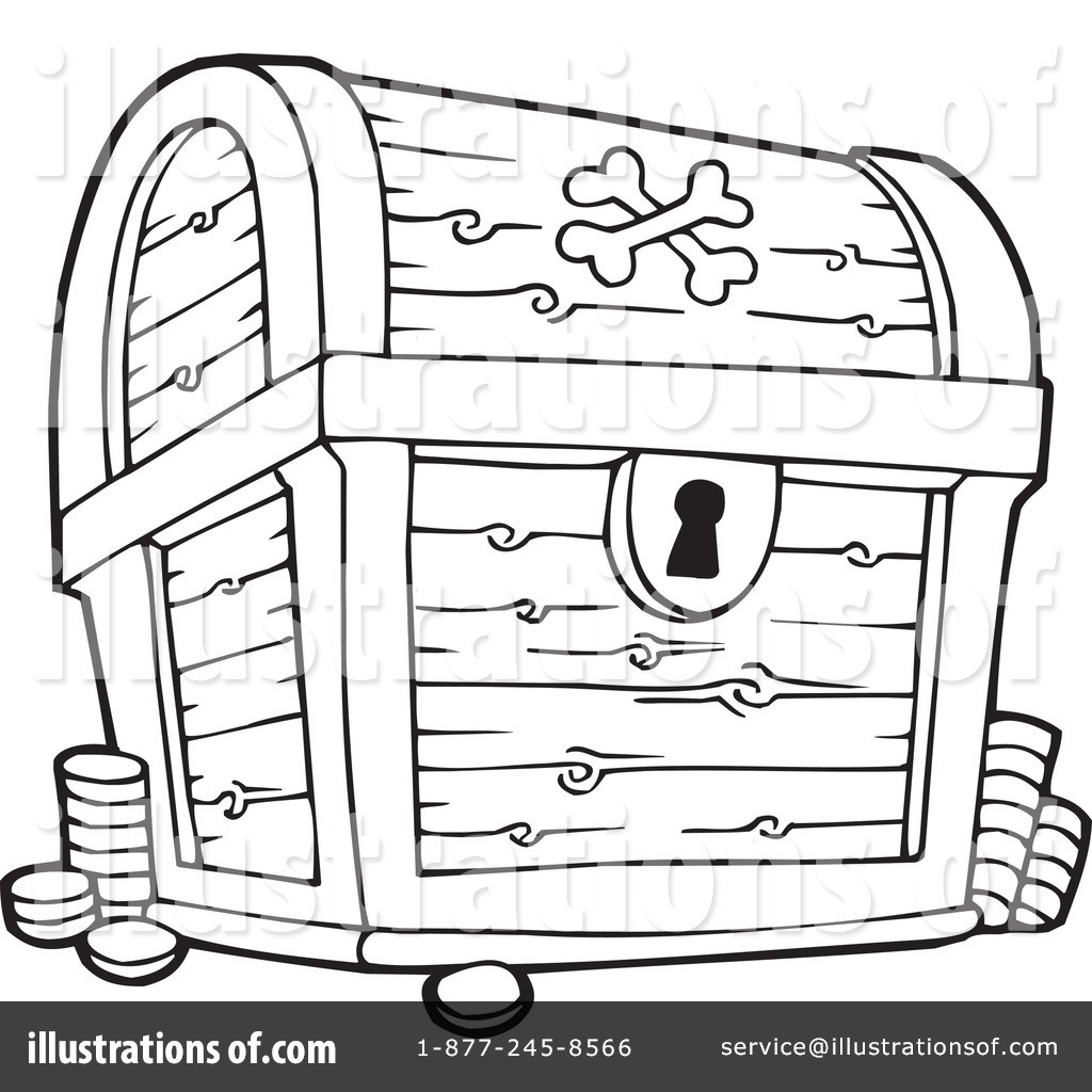 Pirate Treasure Chest Coloring Pages