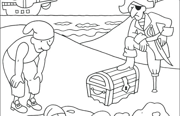 630x409 Pirate Treasure Chest Coloring Lesson Kids Coloring Page Pirate