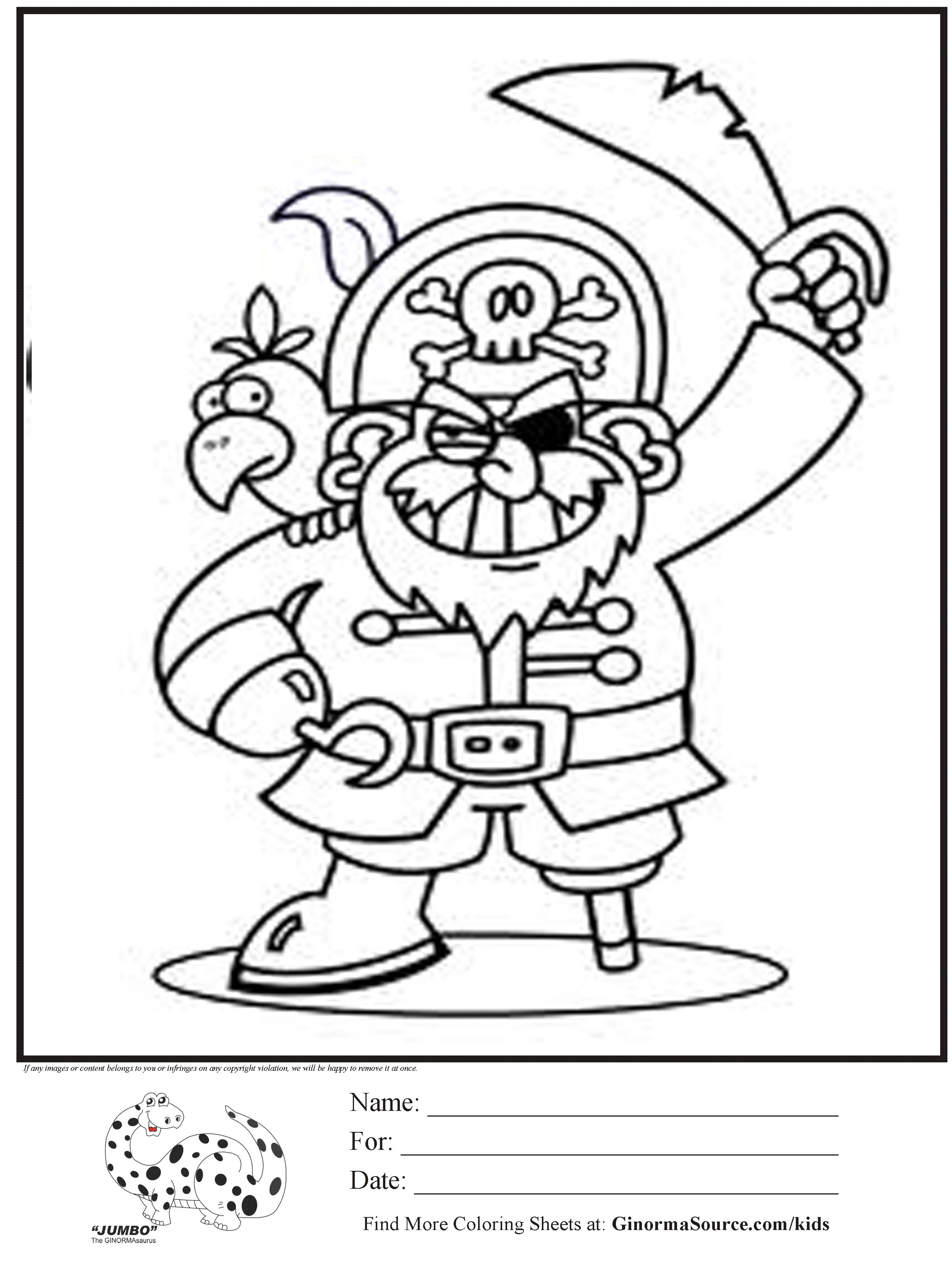 2493x3310 Pirate Treasure Chest Coloring Page Within Pages Printable Inside