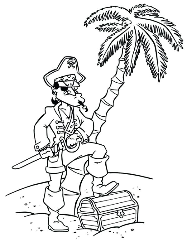 600x776 Pirates Coloring Pages Pirate Captain Treasure Chest Coloring