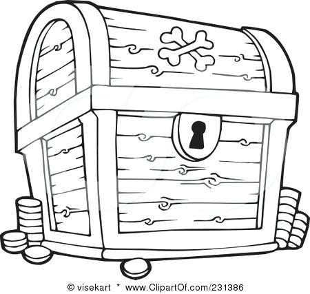450x427 Treasure Chest Coloring Page Pirates Treasure Chest Pirate