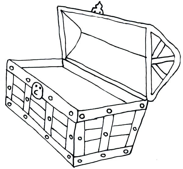 600x554 Treasure Chest Coloring Pages Pin Pirates Of The Pirate Treasure