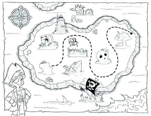 618x477 Treasure Coloring Pages Dragon Guarding Treasure Coloring Page