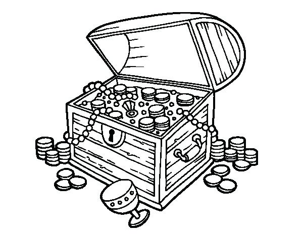 600x470 Treasure Chest Coloring Pages