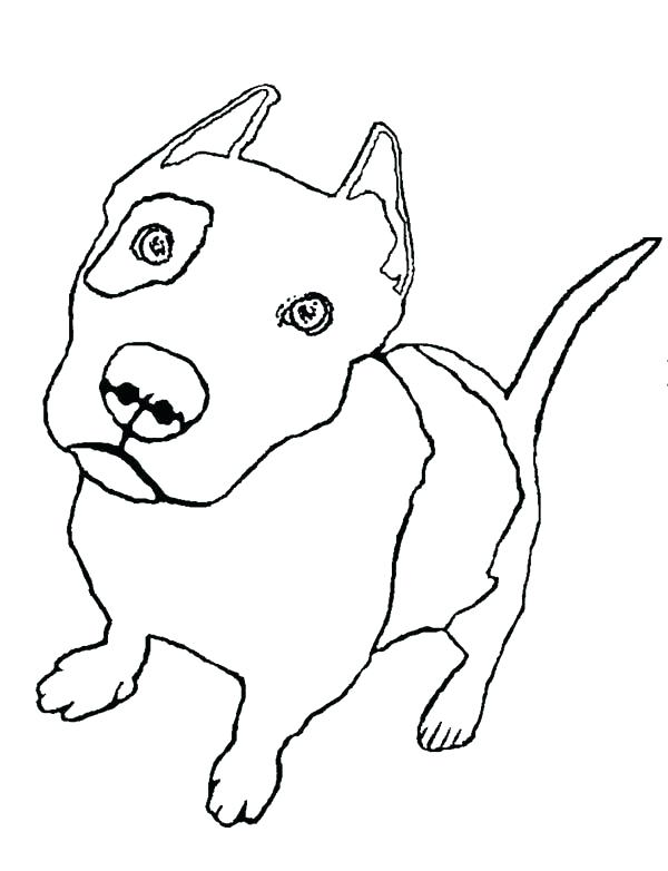 600x782 Pitbull Coloring Page Coloring Pages Cute Pitbull Puppy Coloring
