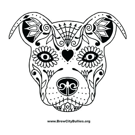 460x460 Pitbull Coloring Page Coloring Pages For Adults Face Puppy