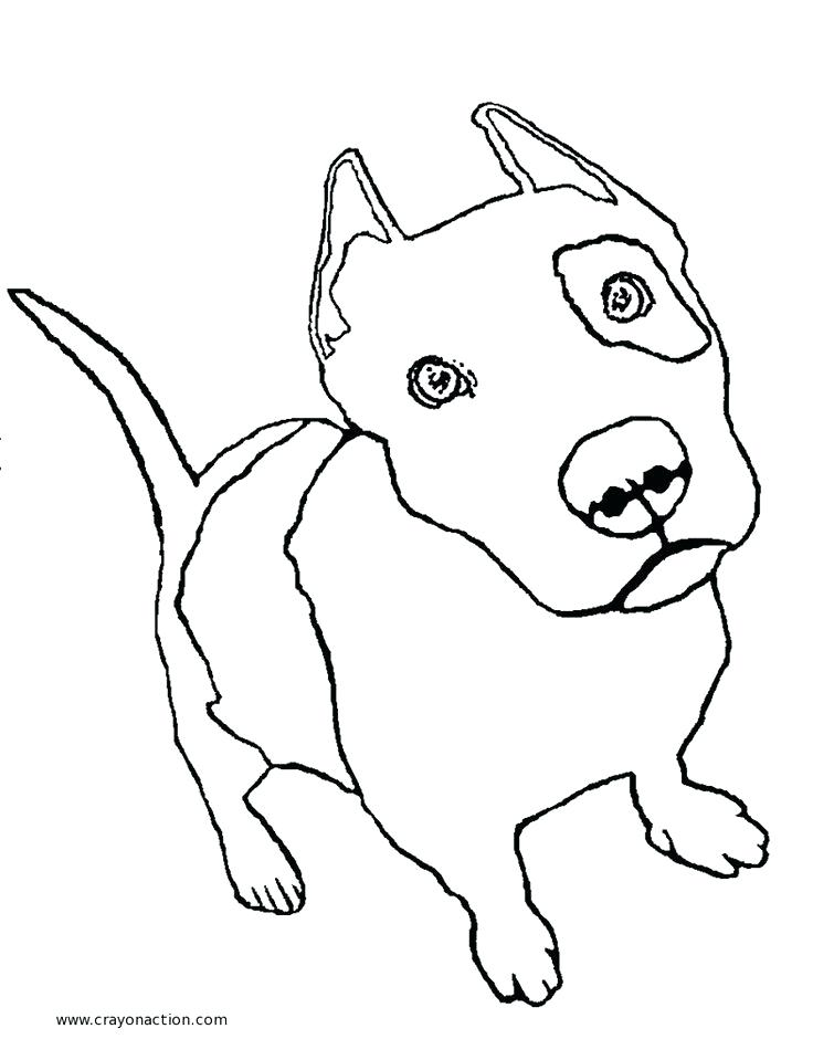 736x959 Pitbull Coloring Page Drawn Pit Bull Coloring Page Pitbull Puppy