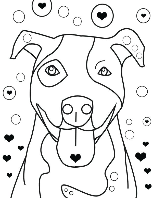 600x776 American Pitbull Coloring Pages Is Falling In Love Coloring Page