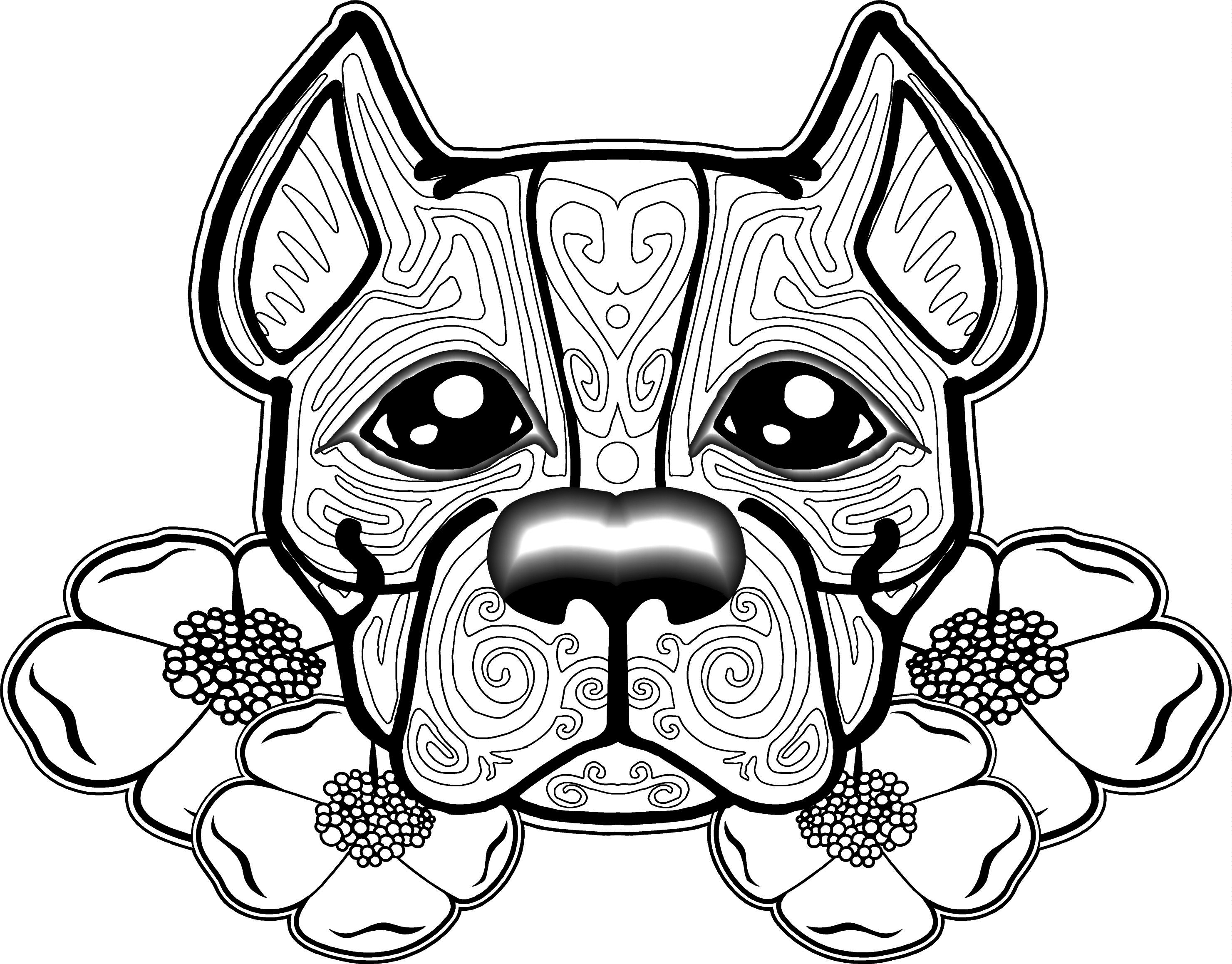 2961x2317 Free Dog Coloring Pages For Adults Printable