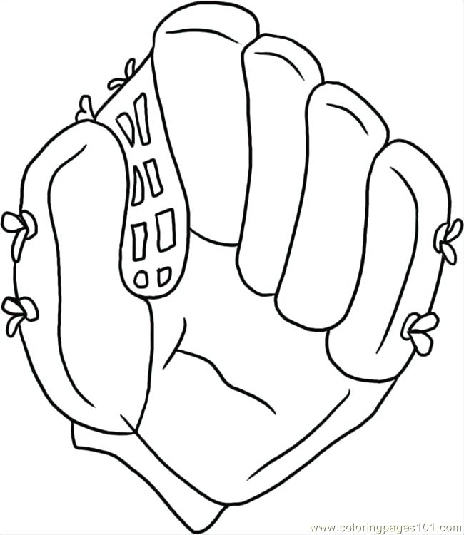 650x750 Baseball Glove Coloring Page Pitcher Coloring Pages Softball