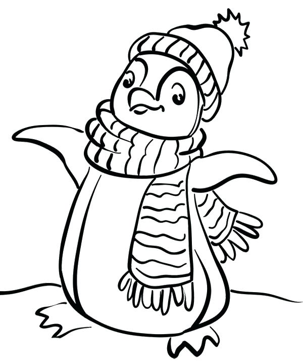 600x715 Coloring Pages Of Penguins Pretty Free Printable Penguin Coloring