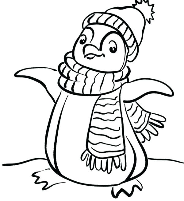 600x654 Printable Penguin Coloring Pages For Kids Club Penguin Coloring