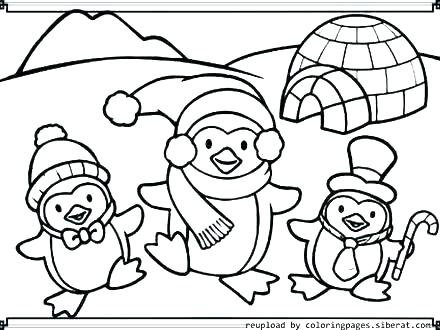 440x330 Coloring Pages Of Penguins