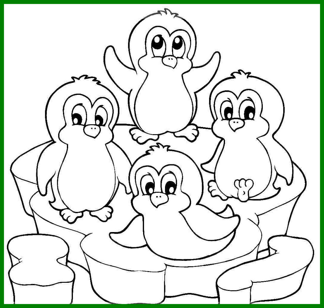 1080x1026 Incredible Coloring Pages Marvelous Penguins To Color Printable