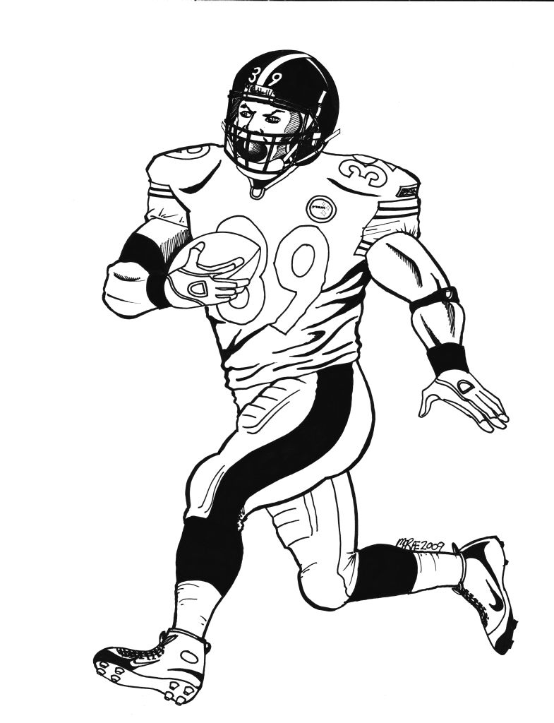 785x1024 Pittsburgh Steelers Uniform Coloring Nfl Steeler Pages Printable