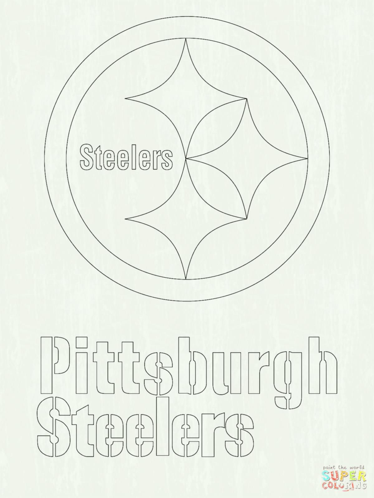1200x1600 Click The Pittsburgh Steelers Logo Coloring Pages Page Free