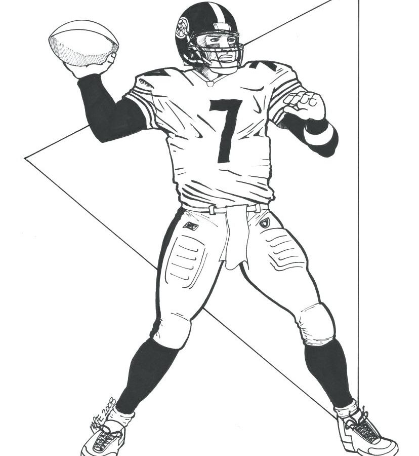 828x900 Steelers Football Colorings Pittsburgh Helmet Free Printable