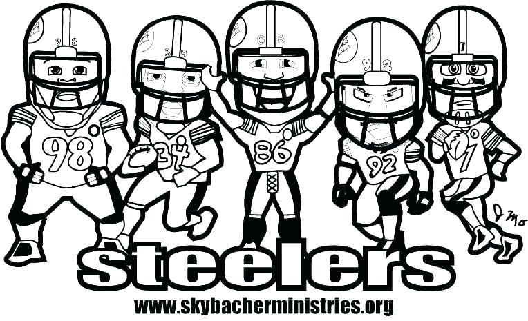 764x465 Free Pittsburgh Steelers Coloring Pages