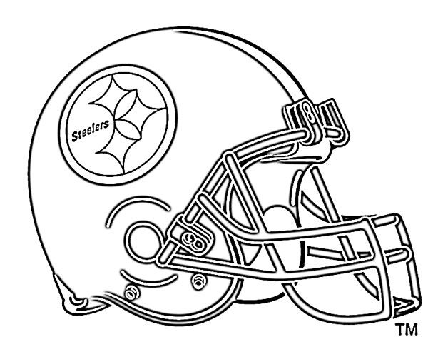 600x472 Football Helmet Coloring Pages Pittsburg Steelers Things To Wear