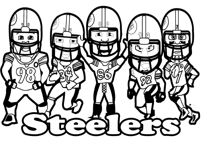 764x568 Pittsburgh Steelers Printable Football Steelers Coloring For Kids