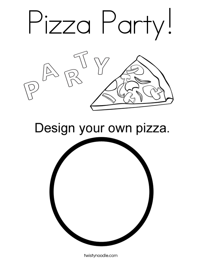 685x886 Pizza Coloring Pages