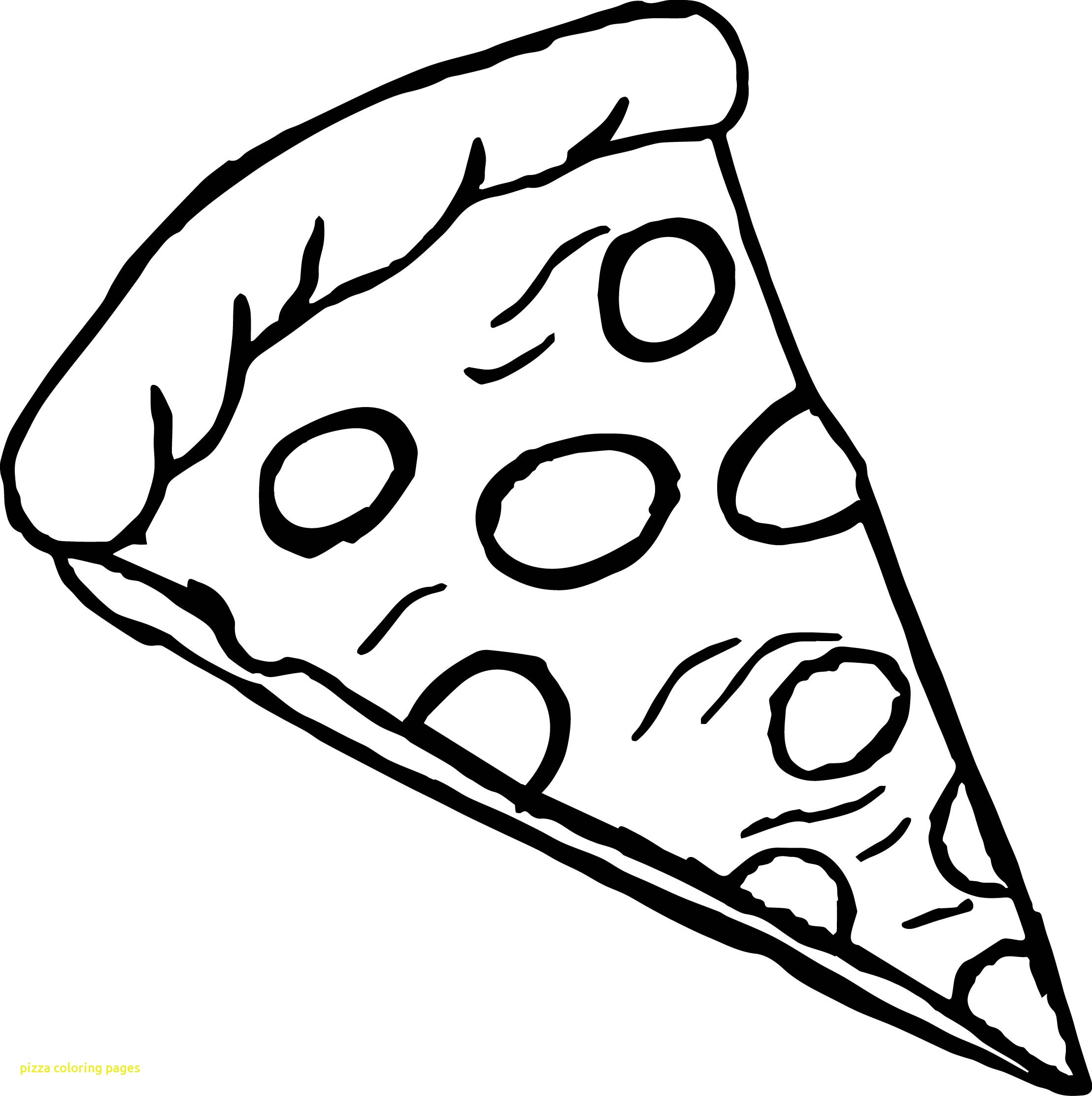 2217x2224 Pizza Coloring Pages