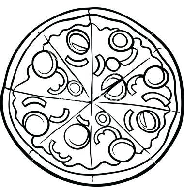 380x400 Pizza Coloring Pages Pizza Coloring Pages Ii Google Pizza