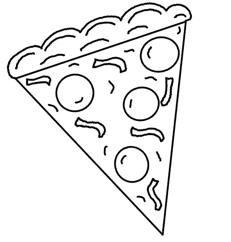 800x839 Pizza Slice Coloring Page