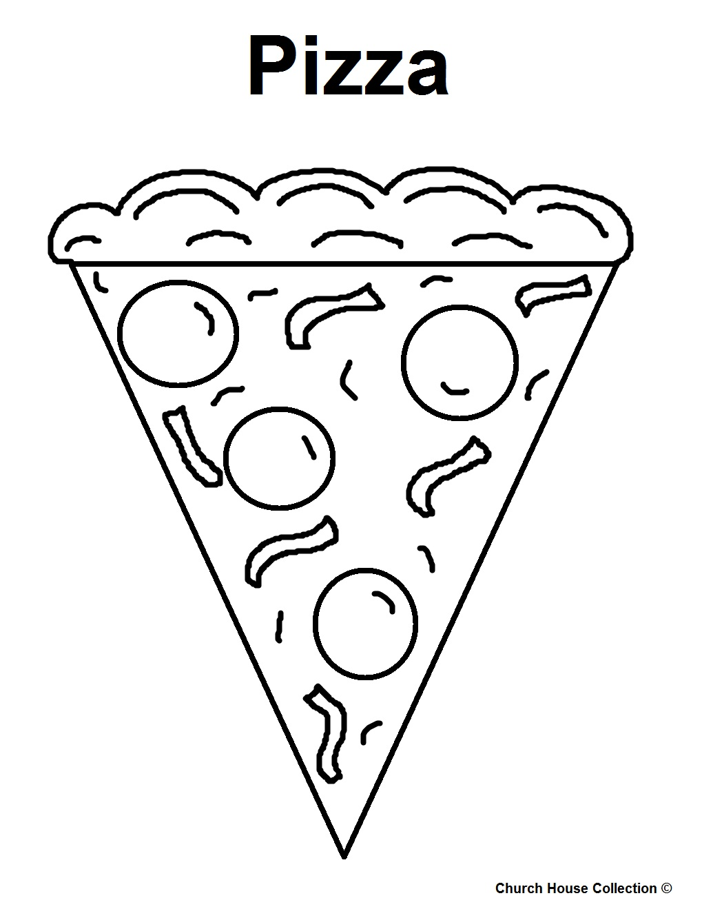 1019x1319 Printable Pizza Coloring Pages