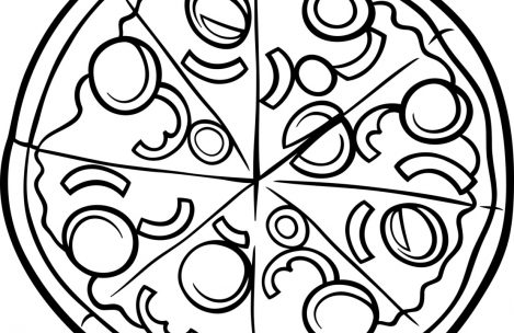 469x304 Pizza Coloring Pages Just Colorings